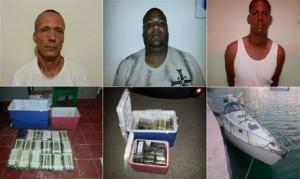 DNCD y DEA ocupan 39 paquetes de cocaína y apresan a tres personas ligadas a red de narco