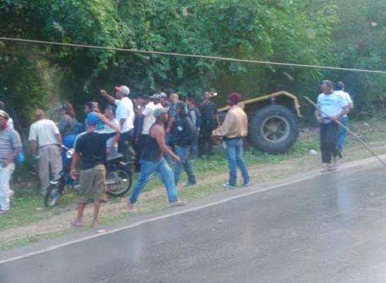 Veron: Accidente en la bajaita del guateque (Imagenes)