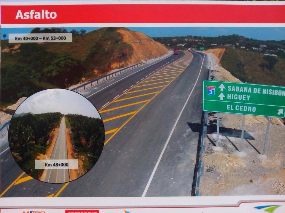 Obras Públicas pone a servicio 53 kilómetros de carretera Uvero Alto-Miches