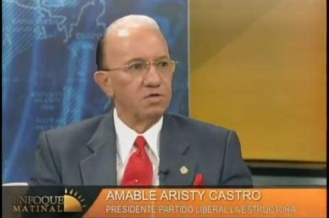 Aristy Castro apoya reelección, dice si dependiera de su voto ya estaría aprobada.
