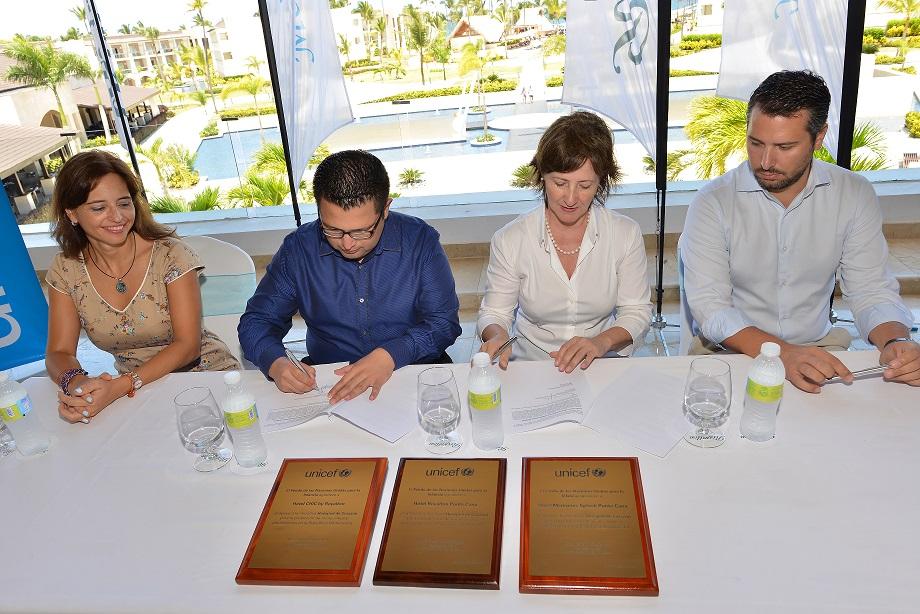 UNICEF y Blue Diamond Hotels firman acuerdo para prevenir la explotación sexual comercial de niñas, niños y adolescentes