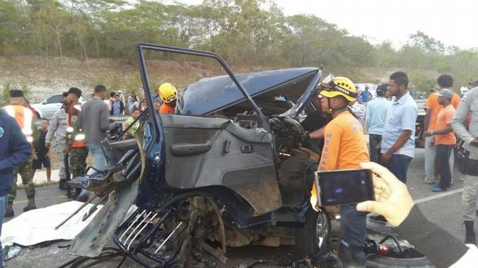Prisión al conductor de minibús donde murieron cinco personas que iban a Higüey.