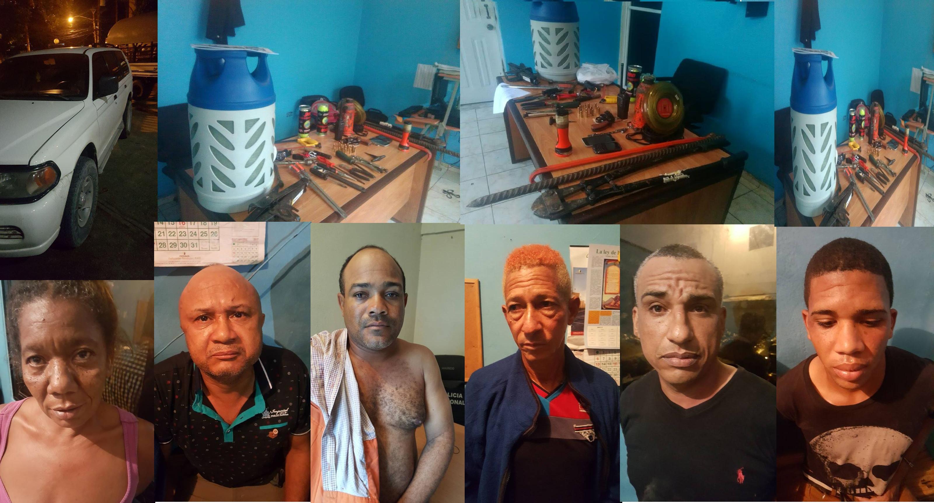 Policía Nacional desmantela banda que pretendía romper caja fuerte en este Municipio de Higüey.