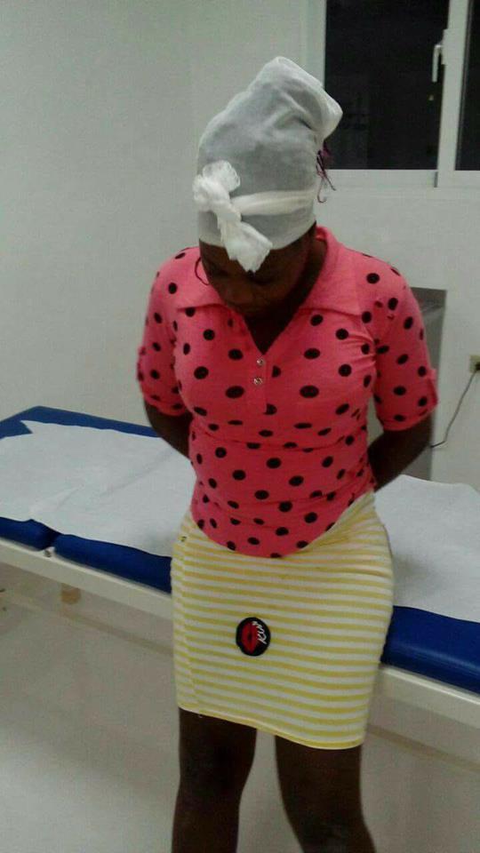 Yuma: Una joven haitiana lanza al rió en una funda plástica al bebe que acababa de dar a luz .