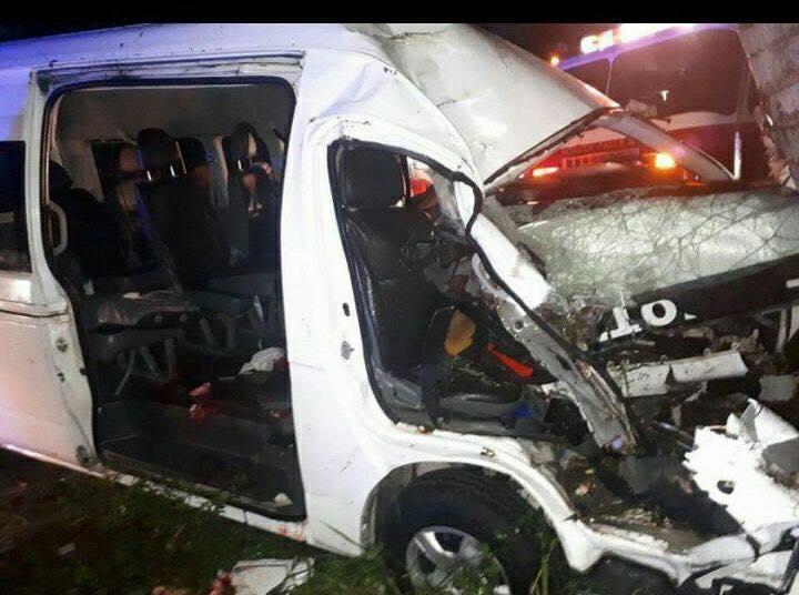 Accidente en carretera Otra Banda Veron, cerca de los Burritos.