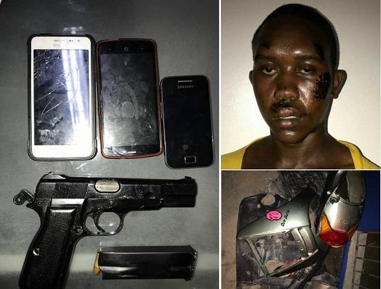 Policía Nacional captura en Higüey presunto homicida y ocupa arma de fuego.