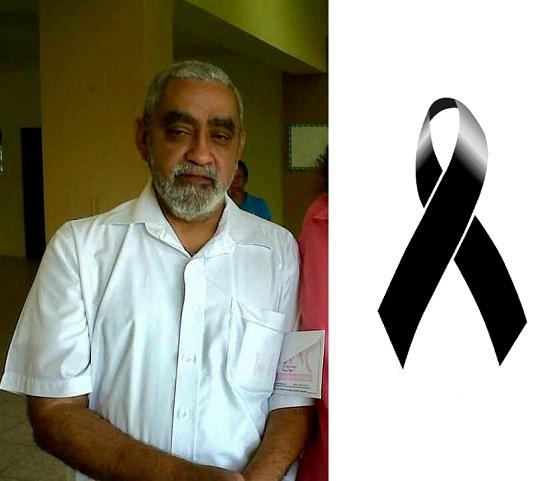 Con profunda pena, informamos el fallecimiento del profesor Carlos Cedeño