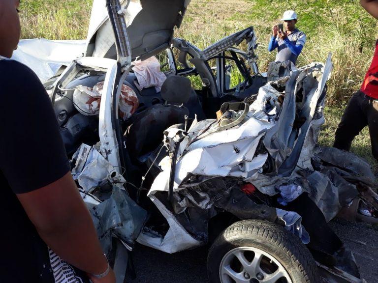 Higüey – La Romana un muerto y cuatro heridos en trágico accidente.