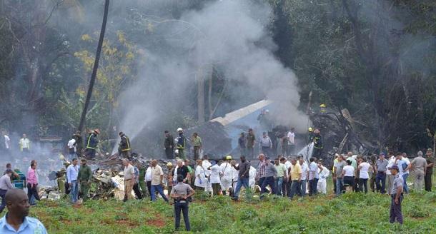 Solo tres personas sobrevivieron al accidente aéreo  en Cuba.
