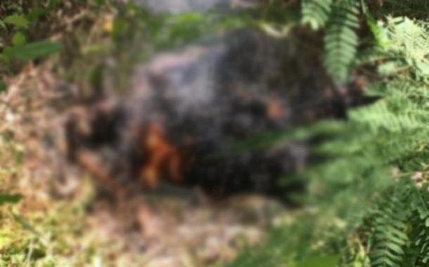 Encuentran cadáver de mujer ardiendo en llamas en matorrales de Verón.